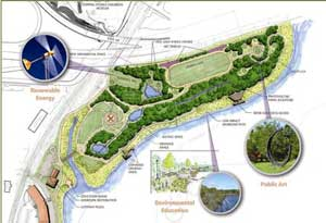 Map of Oyster Shell Park, Norwalk, CT
